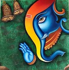 Top 20 Lord Ganesha paintings to print and decorate your home Ganesha Drawing, Lord Ganesha Paintings, Lord Shiva Painting, Ganesha Art, Shiva Art, Krishna Painting, Cool Art Drawings, Drawing Sketches, Canvas Art