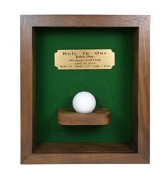 Hole-In-One Shadow Box with Ball Shelf - GreatGolfMemories.com