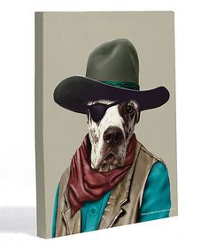 Take a look at this Cowboy Canvas Wall Art by OneBellaCasa on #zulily today!