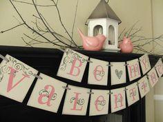 valentines decoration Be My Valentine sign, banner, garland, swag via Etsy