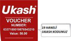 #ukash #turkey  19 haneli Ukash kodunuz ile guvenli alisveris yapabilirsiniz  www.ukashsatisi.com