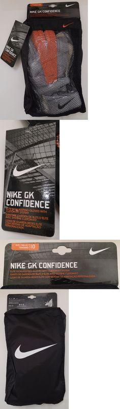 Gloves 57277: Nike Gk Confidence Goal Keeper Goalie Soccer Gloves Orange Size 10 Gs0273-100 -> BUY IT NOW ONLY: $99.99 on eBay!