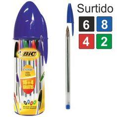 Boligrafos Bic Cristal Mega Tubo 16 4 Gratis Surtidos http://www.selfpaper.com/html/boligrafos-bic-cristal-mega-tubo-16-4-gratis-g.html