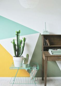 Triángulos pintados en la pared, Little Greene