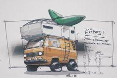 """""""Köpes: #volkswagen T3 eller motsvarande..gärna extrautrustad. Befintligt skick osv. #sketchbook #adventuremobile #campvibes"""""""