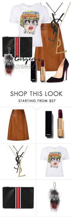 """because of fabulous"" by daniellededwards ❤ liked on Polyvore featuring Wallflower, Prada, Yves Saint Laurent, Givenchy, Amanda Wakeley and Christian Louboutin"