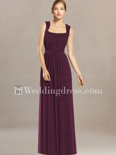 Would be very classic, we could do interesting jewelryElegant Tank Straps Bridesmaid Dress BR074