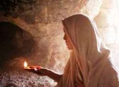 Mary Magdalene (Mary of Magdala) was present at the two most important moments in the story of Jesus: the crucifixion and the resurrection. Mary Magdalene was a prominent figure at both these events.  Here she is at the empty tomb on Easter morning... (1) Luke 8:1-3 (2) Luke 23:49 (3) Luke 23:55-56 (4) Luke 24:1-11