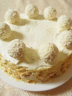 Ciasto rafaello1 Camembert Cheese, Dairy, Ice Cream, Desserts, Food, No Churn Ice Cream, Tailgate Desserts, Deserts, Icecream Craft
