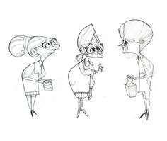 Old character design art of some old folk (more old ladies) :P