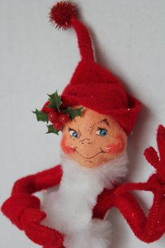Annalee Doll Christmas Elf Red by TalesofTime on Etsy, $23.00