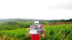 "Funny'Youboat 11 - ""Even in the wineyards, all places are good to read Youboat Magazine"""