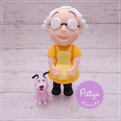 Miniatura Muriel e Coragem,o Cão Covarde (Courage, The Cowardly Dog) - Paty's Biscuit
