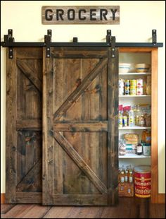 How does a rustic barn door sound for your next home makeover?  If you like the idea, then you'll enjoy getting ideas from this sliding barn door album!