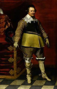 Portret van Ernst Casimir I, graaf van Nassau-Dietz, Wybrand de Geest (I), ca. 1630 - ca. 1635