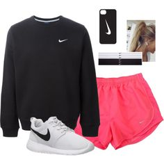 Nike Outfits – Page 4599082065 – Lady Dress Designs Casual Sporty Outfits, Cute Lazy Outfits, Nike Outfits, Athletic Outfits, Teen Fashion Outfits, Outfits For Teens, Look Fashion, Sport Outfits, Look Casual