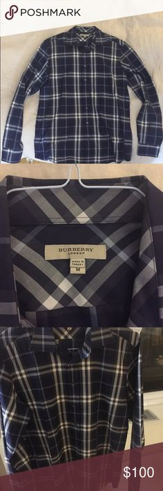 Burberry London Men's Button Down Size Medium Worn 1 time, in perfect condition! Size M Burberry Shirts Dress Shirts