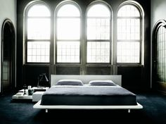 UPHOLSTERED DOUBLE BED CHEMISE COLLECTION BY LIVING DIVANI | DESIGN PIERO LISSONI