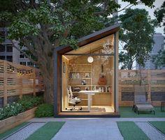 Office Pods, Tiny Office, Backyard Office, Garden Office, Prefab Office, Zen, Carports, Built In Shelves, Prefab Homes