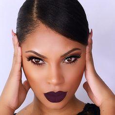 Flawlesss Makeup Stunning Deep Purple Lip Raschelle Msroshposh MOTD Makeup Of The Day