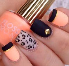 Naranja y negro