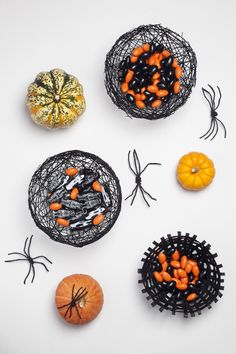 DIY Spiderweb Bowls  Easy and quick to do at home with kids