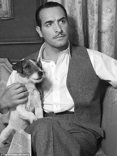 The Artist....with his bff. Jean Edmond Dujardin (French: [ʒɑ̃ dy.ʒaʁ.dɛ̃]; born 19 June 1972) is a French actor, film director, producer and comedian. His starring role in Hazanavicius' silent movie The Artist, playing actor George Valentin, received widespread acclaim.[1] The role won him numerous awards, including the Academy Award, the