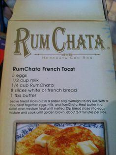 Rum Chata French Toast! Mmmmm