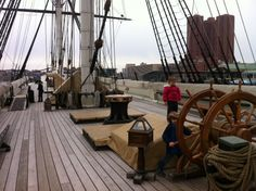 Touring ships at Baltimore Inner Harbor
