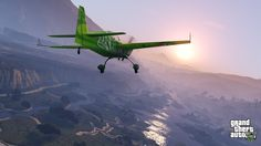 Grand Theft Auto V — Stunt plane flying around Blaine County