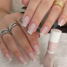 Professional course of gel and fiberglass nails - unhas - French Manicure Nails, Aycrlic Nails, Manicure E Pedicure, French Nails, Swag Nails, Pink Nails, Grunge Nails, Perfect Nails, Gorgeous Nails