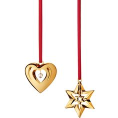 2010 Holiday Ornaments Set (24c gold)