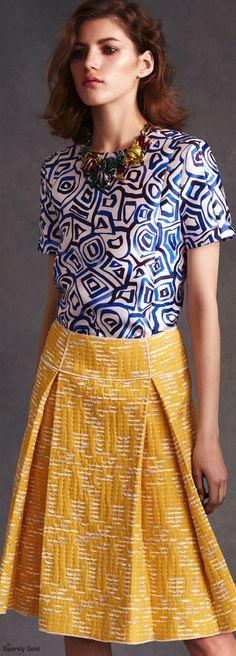 Oscar de la Renta Resort 2016 women fashion outfit clothing style apparel @roressclothes closet ideas