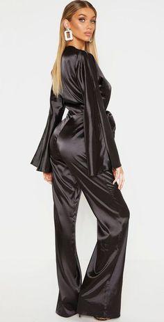 Satin Nightie, Satin Jumpsuit, Satin Sleepwear, Satin Lingerie, Satin Blouses, Hot Outfits, Indian Beauty Saree, Satin Dresses, Tulum