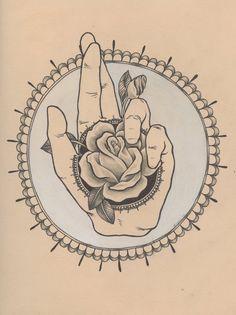 peaceful hand