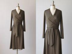 Wrap Dress / 1970s Wrap Dress / Slinky Wrap Dress / Mineral