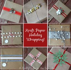 Holiday wrapping idea with kraft paper!