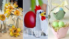 Enkelt påskpyssel med äggkartong | Allas.se Crafts For Kids, December, Easter, Table Decorations, Diy, Decorating, Love, Pictures, Crafts For Children