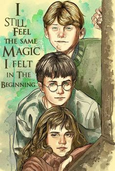 Young harry, hermione and ron by aquiles-soir on deviantart harry potter all movies Harry Potter Fan Art, Memes Do Harry Potter, Estilo Harry Potter, Images Harry Potter, Harry Potter Drawings, Harry Potter Characters, Harry Potter Universal, Harry Potter World, Harry Potter Painting