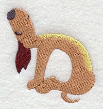 Yoga Dog  Camel  Embroidered Terry Kitchen by forgetmeknottreasure.etsy.com