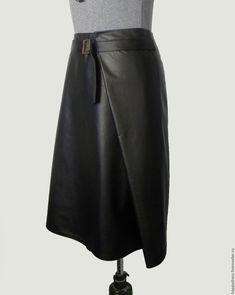 Купить Черная кожаная юбка - черный, купить кожаную юбку, где купить кожаную юбку