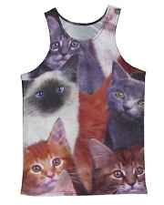 Cats Collage All Over Print Tank Tops Crop Vest Stretchy Printed Tank Tops, Crop Tops, Cropped Tank Top, Tank Man, Collage, Vest, Mens Tops, Fashion, Moda