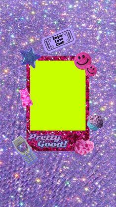 Cute Patterns Wallpaper, Wallpaper Iphone Cute, Cute Wallpapers, Aesthetic Stickers, Aesthetic Backgrounds, Aesthetic Wallpapers, Arte Alien, Overlays Tumblr, Polaroid Frame