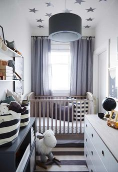 Sophisticated Nursery Closet Crystal Palecek Design Small Ba within Baby Room Designs For Small Spaces. Small Nursery Layout, Small Baby Nursery, Small Space Nursery, Bedroom Small, Small Baby Rooms, White Nursery, Small Boy, Ikea Nursery, Small Baby Space