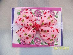 Pink Cherries Boutique Infant Bow Headband by TurtlestonesBoutique, $4.50