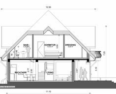 Proiect-casa-cu-Mansarda-18011 2 Home Building Design, Building A House, Good House, My House, Modern Tv Room, Bungalow Style House, House Design Pictures, Architecture Visualization, Dream Home Design
