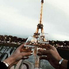 Just sparkling soda and eiffel tower