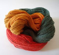 Sunrise hand dyed yarn