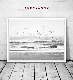 Beach Print - Instant Download  ►SAVE 40% WHEN YOU ORDER TWO (2) OR MORE PRINTS. USE CODE GIFT40◄  Beach Photography Beach Posters Seagull Fog Wall Art Ocean Fog Wall Decor Ocean Printable Ocean Decor  Beach Print printable art ideal for design your home or office.You can print at home, at your local print shop, or upload the files to an online printing service.  A modern instant digital download, printable in an array of sizes. ____instant download___  This listing includes four(4) JPG file…