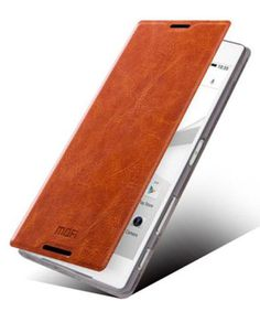 MOFI-Rui-Flip-Cover-Sony-Xperia-Z5-Brown-Leather